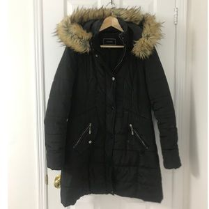 ❄️ Winter Puffer Jacket with Faux Fur Hood